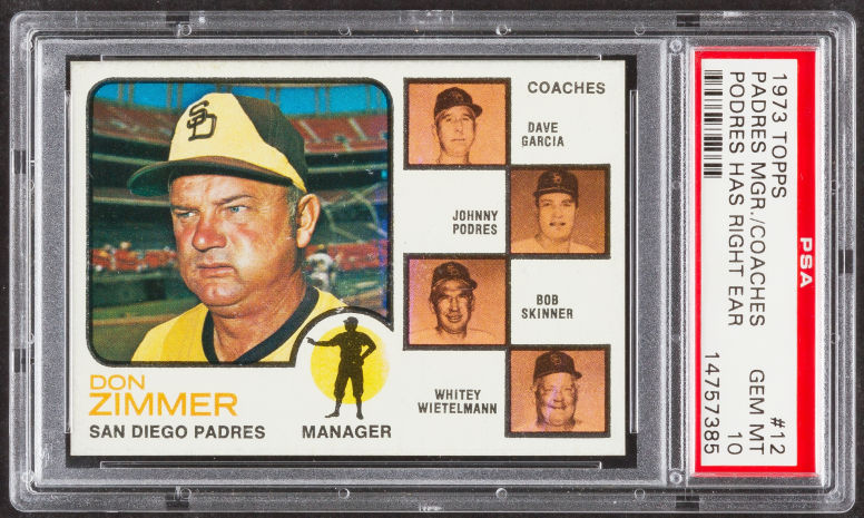Check out this deluxe Topps '73 Don Zimmer Padres card.