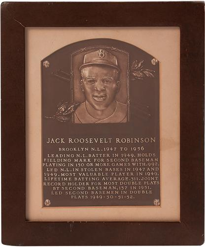 Jackie Robinson's HOF Induction Plaque Headlines Auction